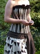 Handmade black and white corset dress