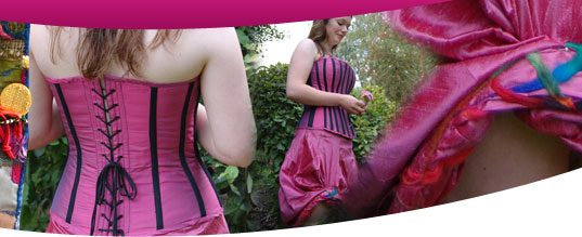 Sass Designs make handmade corsets, prom dresses and posh frocks their base near Sherborne